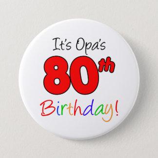 Opa's 80th Birthday Party German Grandpa Button