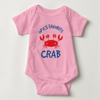 Opas Favorite Crab (Grandchild) Baby Bodysuit