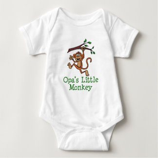 Opa's Little Monkey Baby Bodysuit