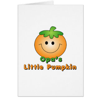 Opa's Little Pumpkin Card