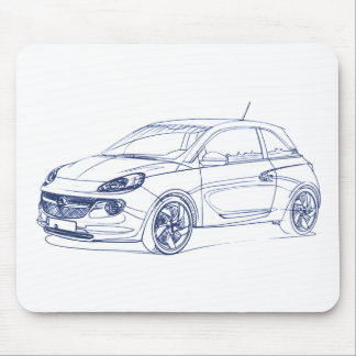 Opel Adam 2013 Mouse Pad