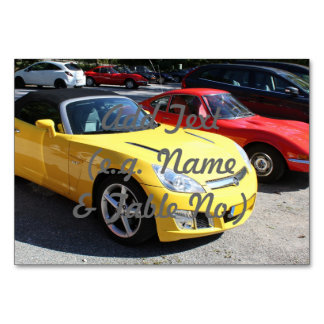 Opel GT Classic Sports Cars Table Card