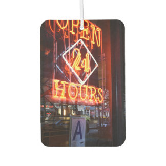 Open 24 Hours Neon Diner Sign New York City NYC Car Air Freshener