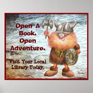 Open A Book. Open Adventure. Poster