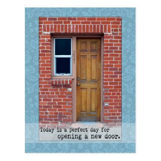 Open A New Door door photograph Postcard