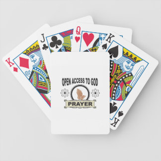 open access prayer bicycle playing cards