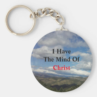Open Air Quotes: I Have The Mind Of Christ Basic Round Button Key Ring