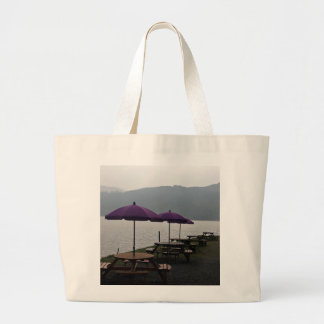 Open air restaurant in Scotland Tote Bags