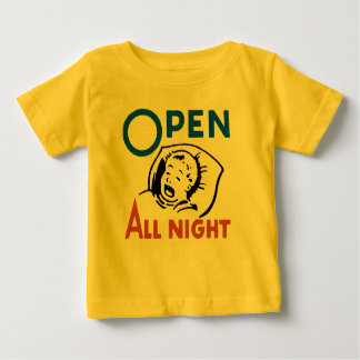 Open All Night: No Sleep For Mom - Baby Clothes Baby T-Shirt