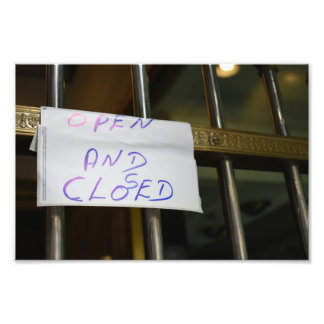 Open and Closed New York City NYC Photography Photo Print