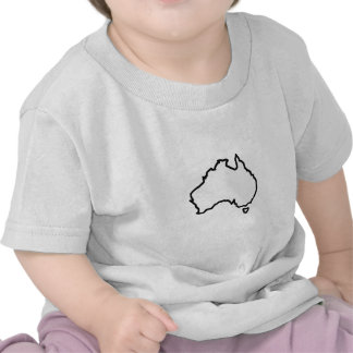 OPEN AUSTRALIA OUTLINE TEE SHIRT