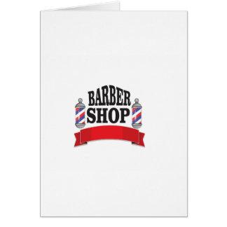 open barber shop art card