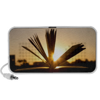 Open Book and Sunset Photograph Travelling Speakers