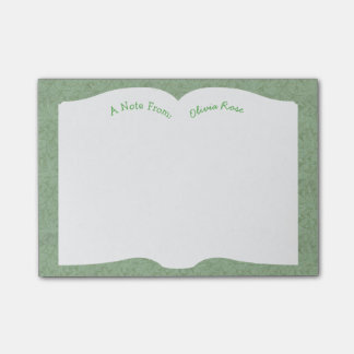 Open Book - Antique End Paper Pattern Post It Note Post-It Note