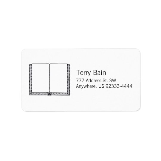 Open Book (Blank Pages) Address Label