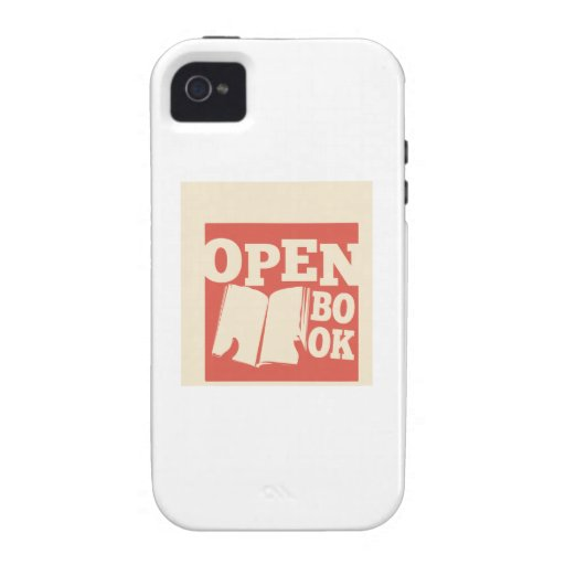 Open Book Vibe iPhone 4 Case