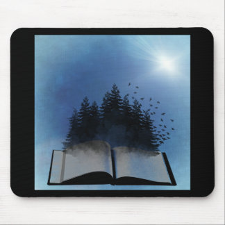 Open Book Forest Mouse Pad