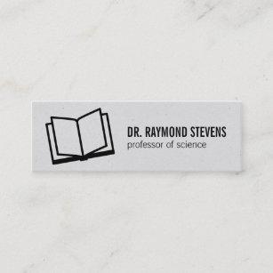 Open book business cards zazzle au open book ii mini business card reheart Images