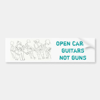 open carry guitars not guns bumper sticker