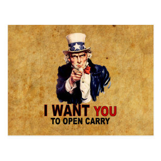 Open Carry Postcard