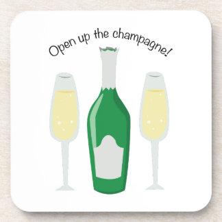 Open Champagne Beverage Coaster
