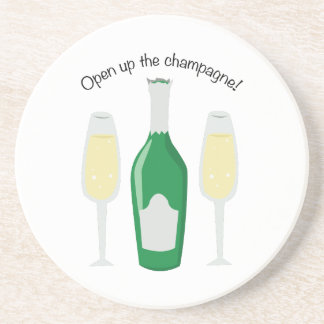 Open Champagne Beverage Coasters