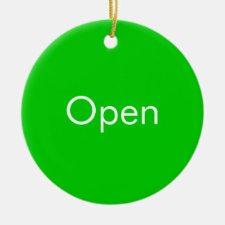 Open / Closed Door Sign Ceramic Ornament