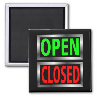 Open Closed Signs Vector Clipart Refrigerator Magnets