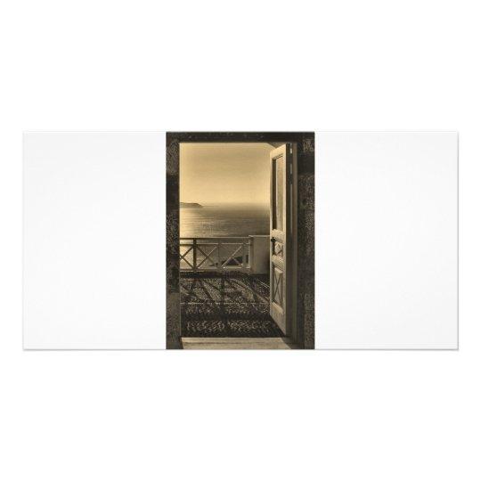 Open door-Retro Card