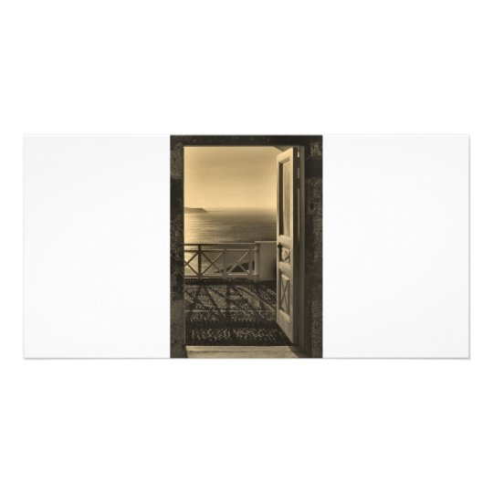 Open door-Retro Personalised Photo Card