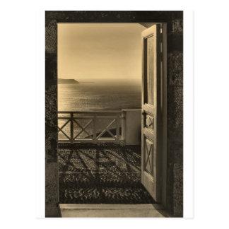 Open door-Retro Postcard