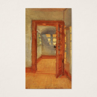 Open door sunny impressionist interior Anna Ancher Business Card