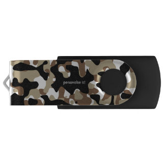 Open-field snow camouflage USB flash drive