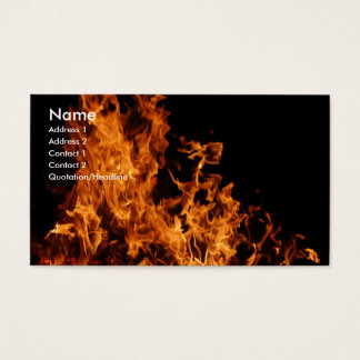 Open Flame Business Card