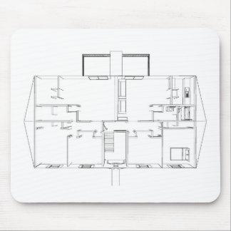 Open Floorplan Drawing Mousepad