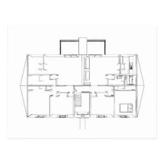 Open Floorplan Drawing: Postcard
