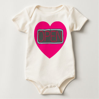 open heart infant onsie creeper
