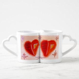 ...open hearts...art by Jutta Gabriel... Coffee Mug Set
