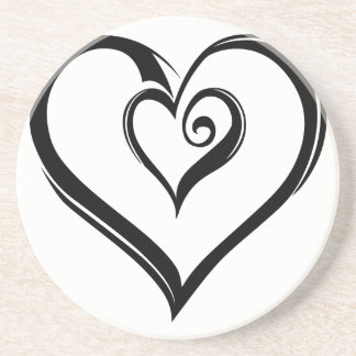 Open Hearts Design Sandstone Coaster