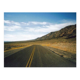 Open Highway- Death Valley Postcard