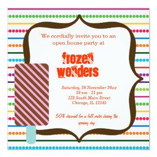 Open House Ice Cream salon Card