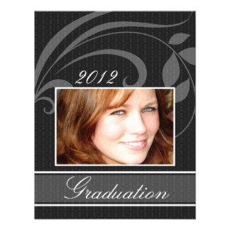 Open House Party Graduation Invitations Pic Black