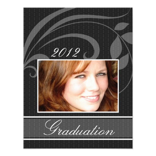 Open House Party Graduation Invitations Pic Black
