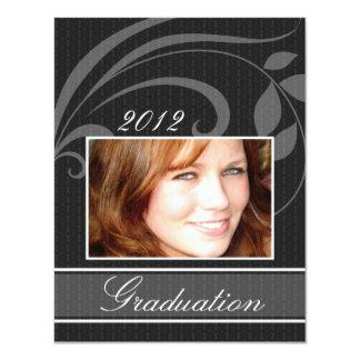 "Open House Party Graduation Invitations Pic Black 4.25"" X 5.5"" Invitation Card"