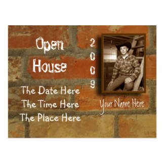 open house postcard
