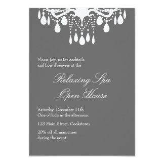 Open House Smokey Gray Grand Ballroom 13 Cm X 18 Cm Invitation Card