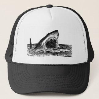 OPEN JAWS Crosshatch Art Trucker Hat