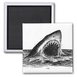 OPEN JAWS Great White Shark Art Magnet