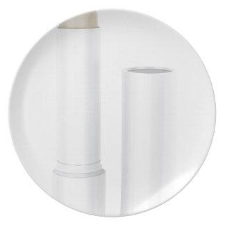 Open lip balm stick plate