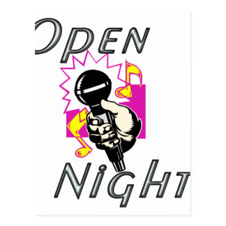 Open Mic Night Postcard